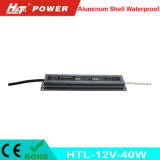 fonte de alimentação Htl do interruptor do transformador AC/DC do diodo emissor de luz de 12V 3A 40W