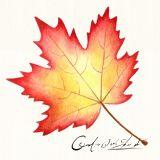 Fall Tree Yellow Leaf Oil Painting Handmade Wall Art