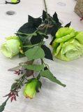 Bela Flor de Seda Rosa Artificial Arranjo Casamento Decoração