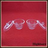Crisoles de fusión de pulido claros del cuarzo de la silicona con las tapas