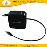 Durable murale câble rétractable USB Longueur du rabatteur avec cordon de signal