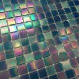 Mattonelle di vetro Iridescent del raggruppamento del mosaico di vendita calda degli stock (H420045)