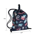 Напольные спорты Backpack-Напечатали мешок плеча шнура полиэфира