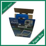 Caja de embalaje del papel acanalado de la cámara del OEM con la maneta