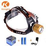 알루미늄 재충전용 매우 밝은 LED 자전거 빛 LED Headlamp