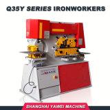 Q35y-40 de Hydraulische Machine van het Ponsen van de Ijzerbewerker van het Gat van het Oogje van het Vloeistaal/van het Roestvrij staal