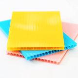Tarjeta resistente ULTRAVIOLETA de la pared del doble del panel del policarbonato de la hoja del material para techos para la venta