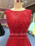 Aoliweiya spätester Entwurfs-rotes Satin-Abend-Kleid