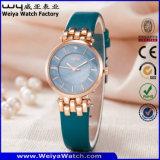 ODM Regalo Cuarzo correa de cuero de moda señoras reloj de pulsera (Wy-121A)