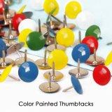 La promotion de métaux à tête ronde Thumbtacks peint de couleur