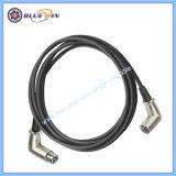 Bracht de Rechte hoek van de Kabel van de microfoon Beste Mannetje XLR aan Vrouwelijke Kabel uit zijn evenwicht