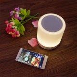 테이블 램프의 옆에 접촉 통제 색깔 LED를 가진 Bluetooth 휴대용 무선 4.0 스피커