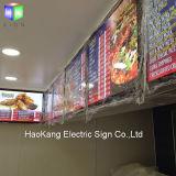 Bâti en aluminium de photo de DEL avec le signe contre éclairé de cadre d'éclairage LED pour la nourriture rapide de menu de restaurant