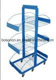 Affichage de métal blanc en forme de l'échelle de comptoir étagère de rack de vente au détail