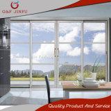 Puertas corredizas de vidrio de doble vía con perfil de aluminio