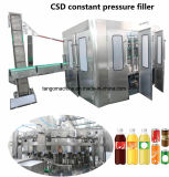 Full Auto carbonatou o gás contem a planta de engarrafamento da máquina de enchimento do frasco da bebida