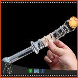 Productos eróticos de Consolador de los consoladores del consolador del pene del sexo del juego adulto cristalino de cristal del juguete