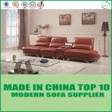 Sofa moderne de cuir véritable de modèle simple