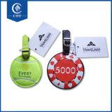 メダルが付いている革荷物の札はロゴの挿入を浮彫りにした