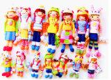 Bambole del Crochet della mano, giocattoli a foglie rampanti, Crochet Amigurumi, giocattoli del bambino di Croche
