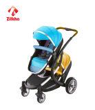 Baby-Spaziergänger-mit Ruhm und Schrifttyp-regelmäßiger Sitz-und Rückseiten-regelmäßiger Sitz und vorderes Carrycot und Rückseite tragen Feldbett