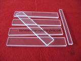 Rectangular UV transparente resistente al calor de la placa de cristal de cuarzo.