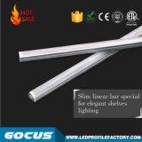 LED 선형 전등 설비 Linkable 선형 가벼운 알루미늄 주거, 상품 선반을%s LED 후미 점화 LED 선형 정착물