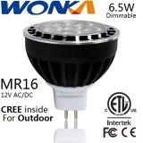Riflettore della lampadina 6.5W Dimmable del CREE LED MR16 per illuminazione esterna