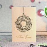 Cartão de papel do presente para o cartão de Chirstmascustomize do aniversário do casamento