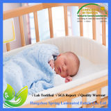 180GSM 100%年の綿のテリーのアレルゲンの証拠の赤ん坊の尿のまぐさ桶の防水マットレスのまぐさ桶カバー