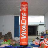 2m de altura da coluna de Pilar do tubo inflável decoração de iluminação LED
