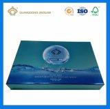 Boîte-cadeau de empaquetage de papier de masque facial fait sur commande avec l'impression UV sur le papier argenté d'enveloppe comme boîte de présentation