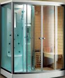 Sauna a Vapor Infrared com função de chuveiro, a madeira maciça e material acrílico