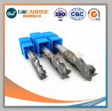 Máquinas herramientas CNC de carburo de tungsteno molinos de extremo Fresas