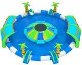 Opblaasbare Pool die met het Opblaasbare Park van het Spel van het Water wordt gecombineerd