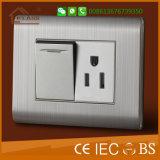 Interruttore economizzatore d'energia spazzolato della parete di ritardo di tocco dell'acciaio inossidabile