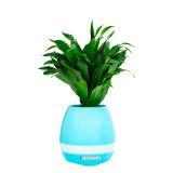 Carregador USB colunas Bluetooth com suporte íons negativos, aroma de plantas e luz noturna.