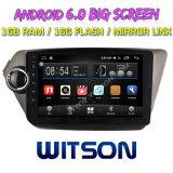 """Witson grande ecrã de 9"""" com sistema Android 6.0 aluguer de DVD para KIA K2 2012"""