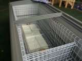 grande congelatore dell'isola del portello di vetro di scivolamento del volume 1050liter per la gelata dell'alimento in supermercato