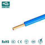 Baja tensión 450/750V Cable de cobre sólido PVC