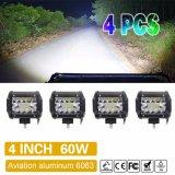 Trois rangées de vente chaude 4pouces mini barre lumineuse à LED Offroad Jeep Chariot 36W à LED Barre de feux de travail