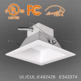 40W à intensité réglable de 8 pouces LED Downlight carré pour le nouveau bâtiment, ul es approuvé