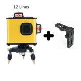 Preiswerte rote Zeile Laser-Stufe des Träger-12 mit Magnet-Halter