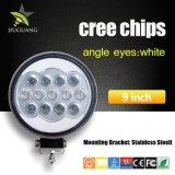 130W Angel Eyes 9pulgadas Super brillante luz LED de trabajo de 12V