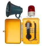 De Telefoons van de Noodsituatie van de Spoorweg van de Telefoon van het Bewijs van het weer met Luidspreker