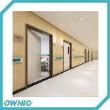 Le porte a battenti manuale una e mezzo si aprono per l'applicazione dell'ospedale