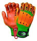 Nitril beschichtete Anti-Auswirkung Bambusfaser-Sicherheits-Bergbau-Arbeits-Handschuhe