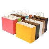 安くオンラインで卸し売り多色刷りのペーパーギフト袋、多彩なクラフト紙のショッピング・バッグ
