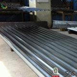 Folha revestida ondulada da telhadura do metal do baixo custo para a construção de aço