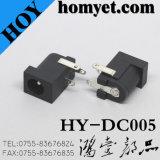 Compatible con RoHS 2.0/2.5mm Conector DC Jack de alimentación DC con a través del agujero